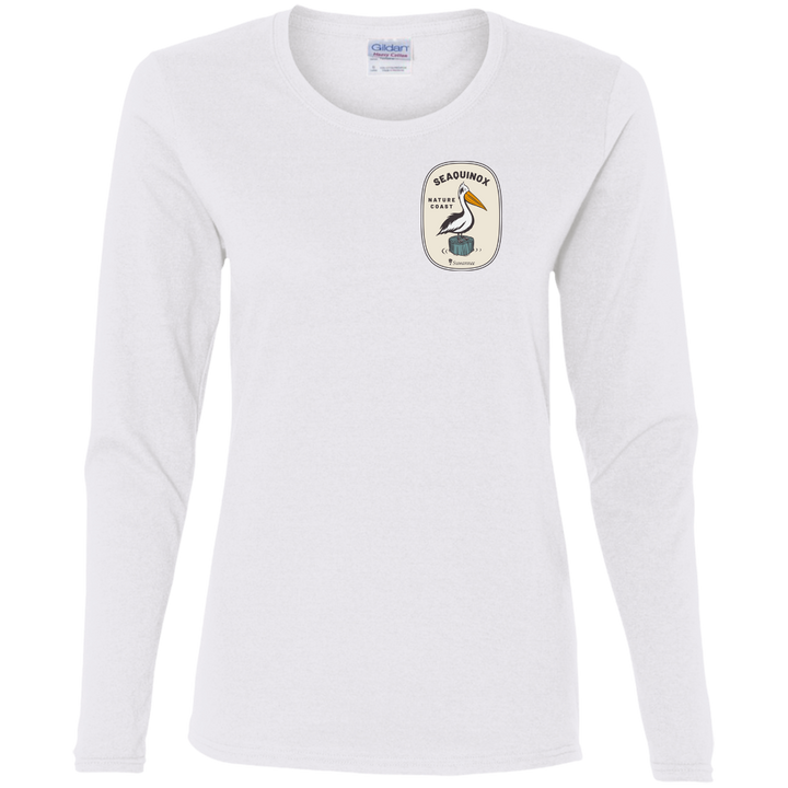 Nature Coast Pelican - Womens Fitted Tshirt - LS - Suwannee™