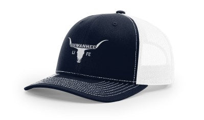 Longhorn Cattle Skull - Snap Back Trucker Hat - Richardson 112