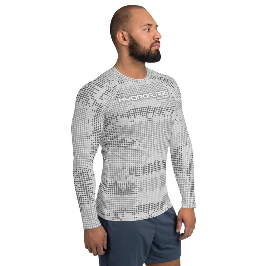 Silver Surf Water Camo - Mens Performance UPF Fitted Tshirt - LS - Suwannee™