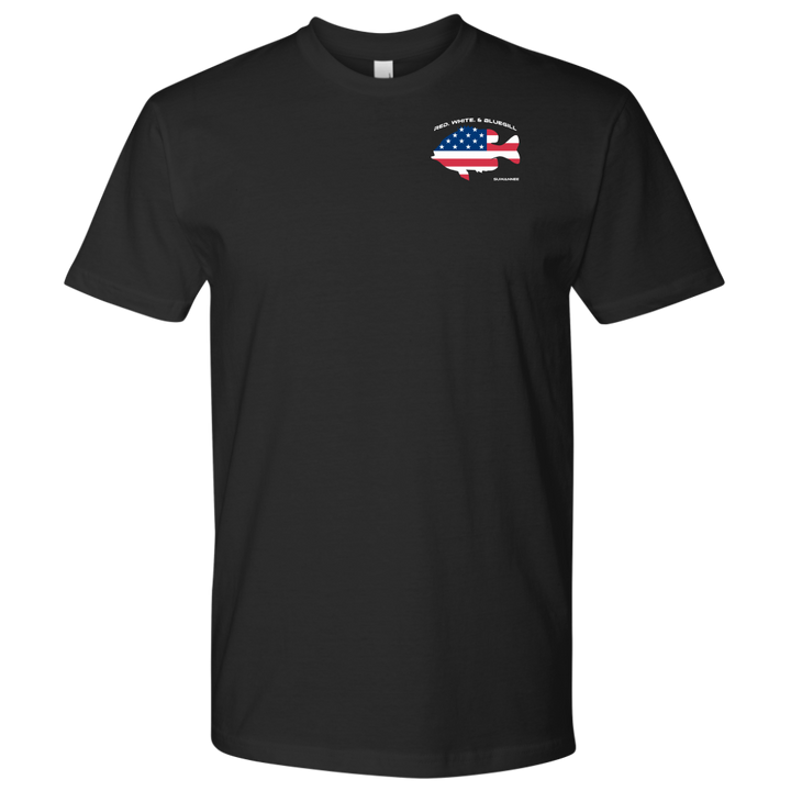 Red White & Bluegill - Mens Flag Tshirt - SS - Suwannee™