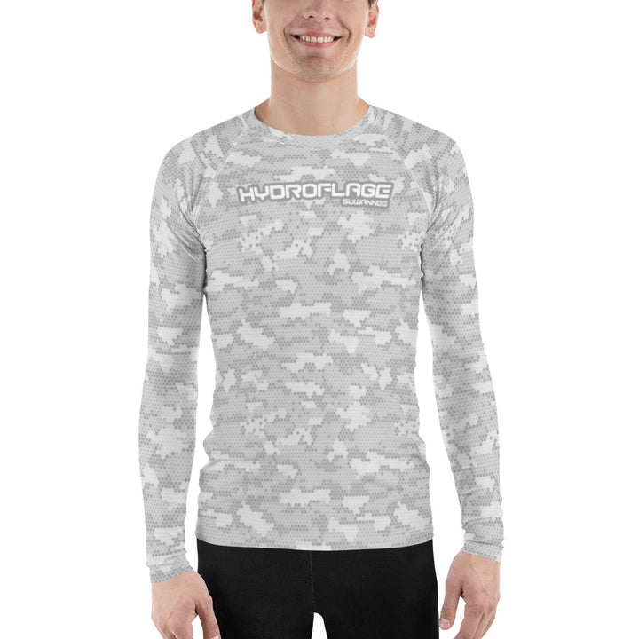 Grey Daze Water Camo - Mens Performance UPF Fitted Tshirt - LS - Suwannee™
