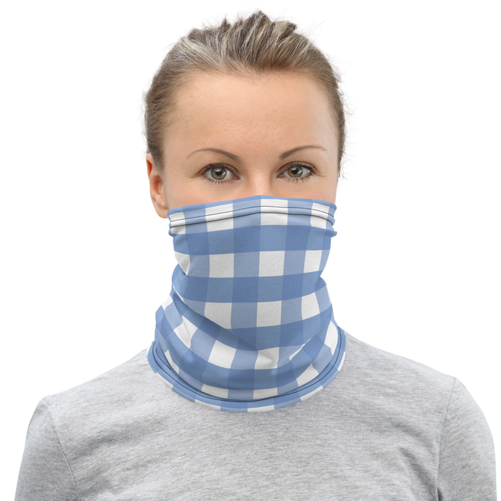 Large Blue Plaid - Face Mask Cover & Neck Gaiter - Suwannee™