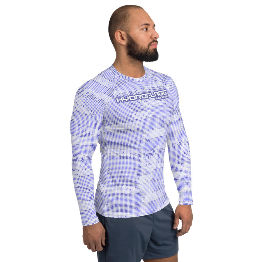 Blue Sky Water Camo - Mens Performance UPF Fitted Tshirt - LS - Suwannee™