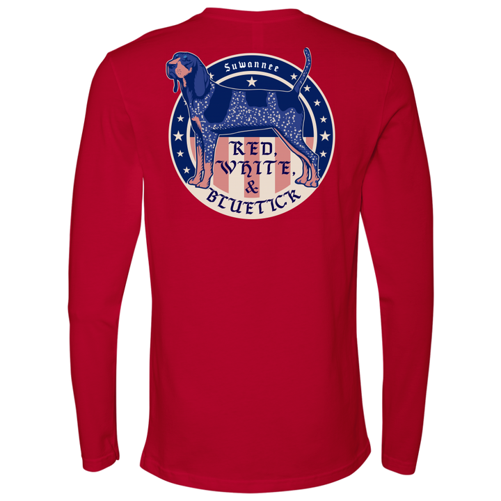 Red White & Bluetick™ 02 - Mens Flag Tshirt - SS/LS - Suwannee™