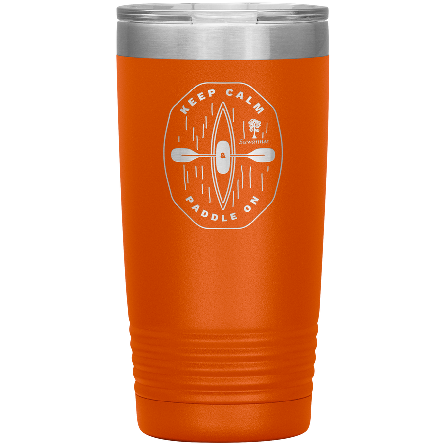 Keep Calm Kayak - Engraved Stainless Steel Tumbler 20 oz Vacuum Insulated