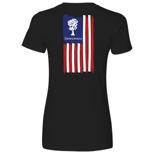 Cypress Flag Vertical - Womens Tshirt - SS - Suwannee™