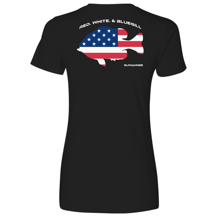 REVISED-Red White & Bluegill - Womens Flag Tshirt - SS - Suwannee™