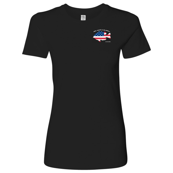 Red White & Bluegill - Womens Flag Tshirt - SS - Suwannee™