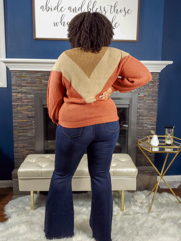 Fall Vibes Sweater - Curvy