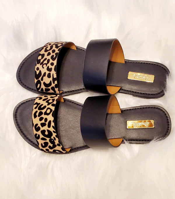 Fierce Leopard Sandals