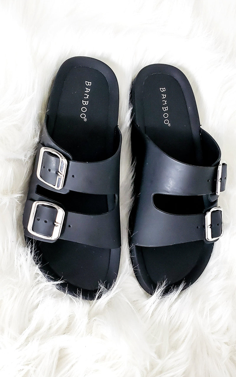 Black Jelly Slides