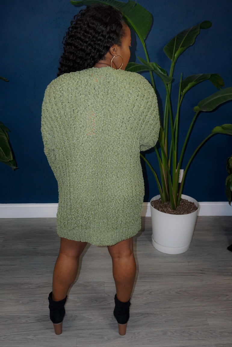 She's Sweet Cardigan - Green