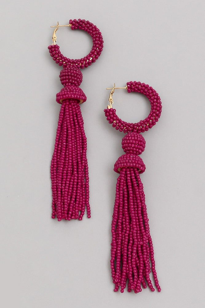 Higher Love Earrings- Burgundy