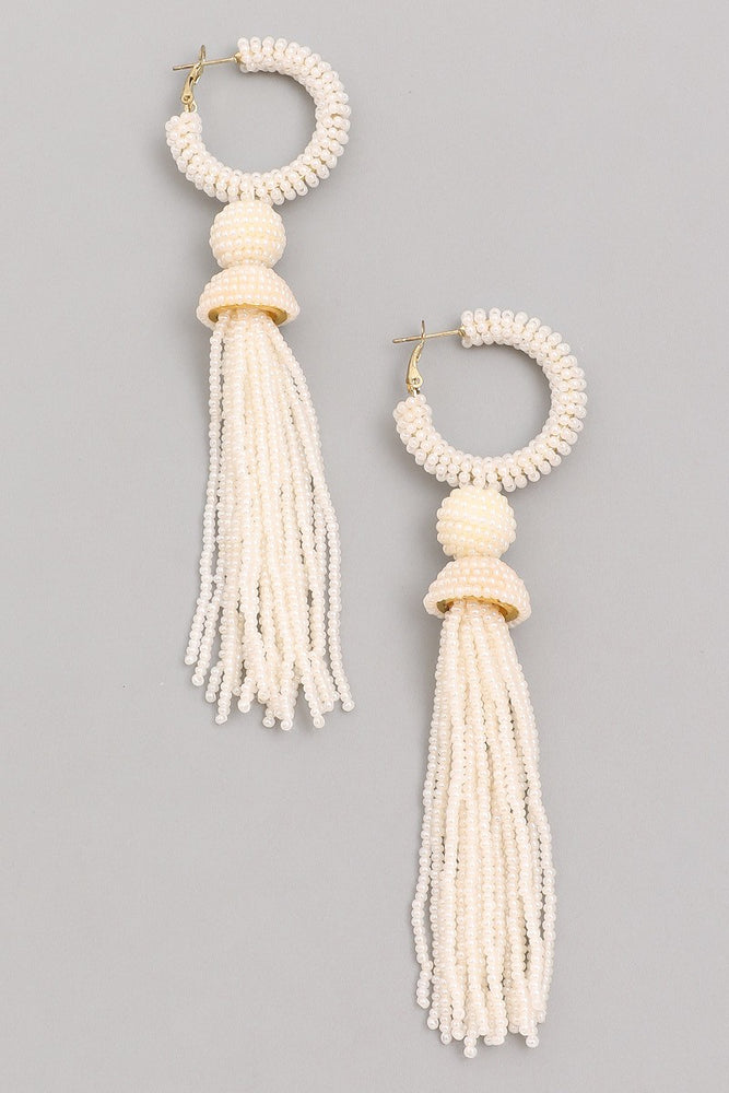 Higher Love Earrings- Ivory