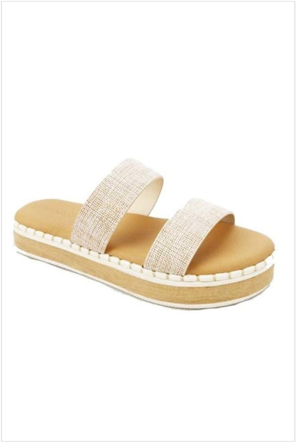 All Natural Platform Sandal