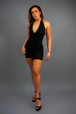 Lounging Around Romper - Black