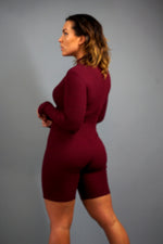 Lets Lounge Romper- Burgundy