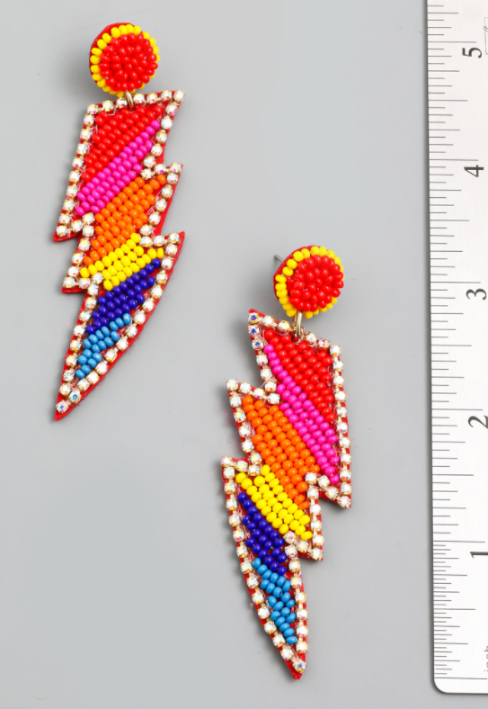 Rainbow Lightning Earrings