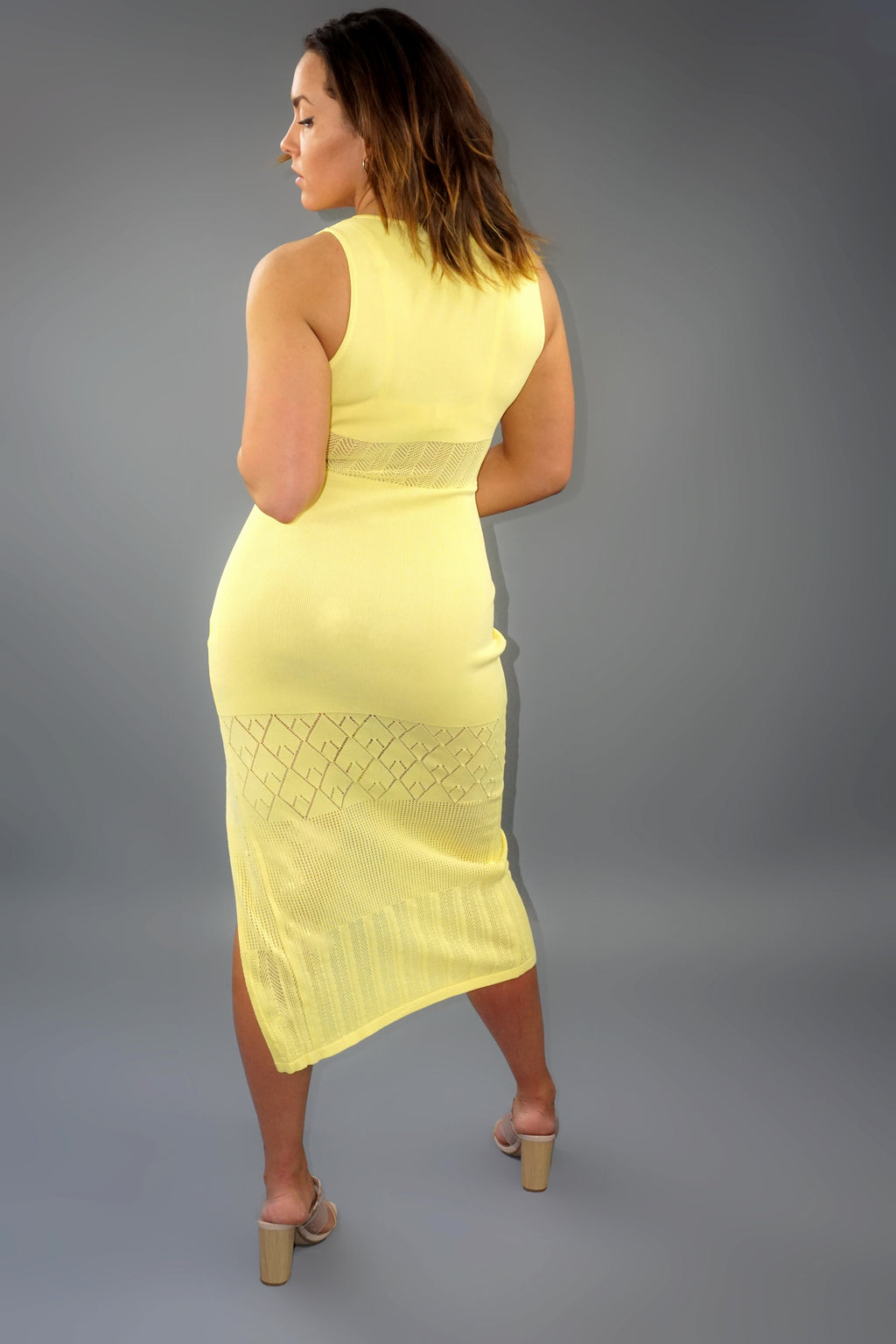 Brunch Date Midi- Yellow