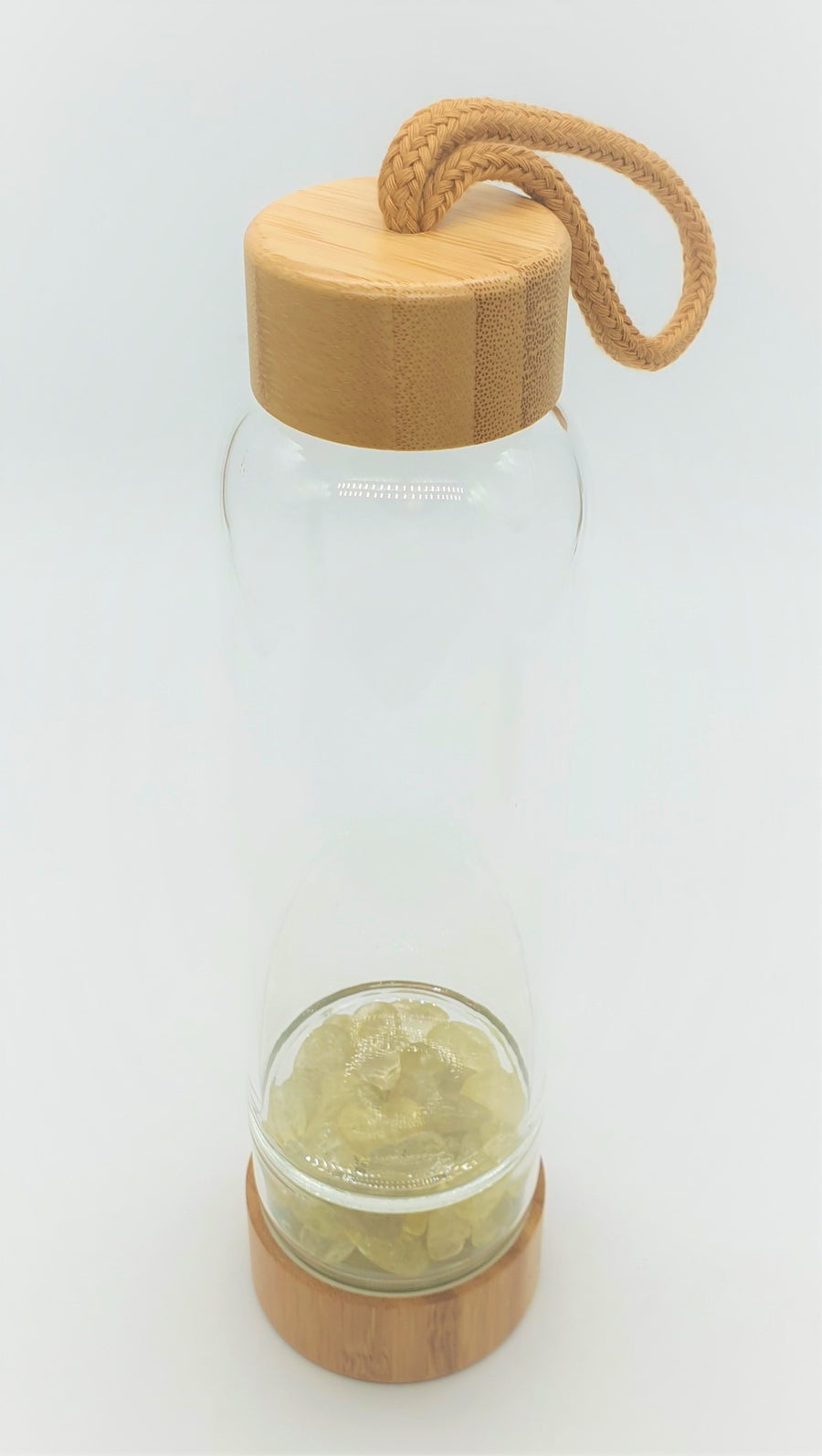 Bamboo & Citrine Crystal Water Bottle
