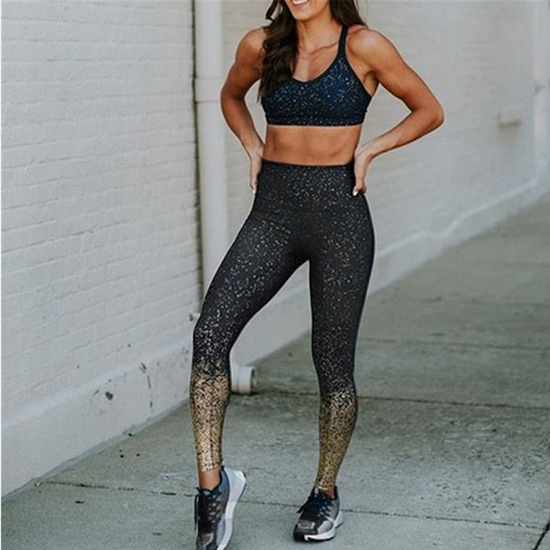 Womens Gradient Color Seamless Leggings - millennial-fashion-hub