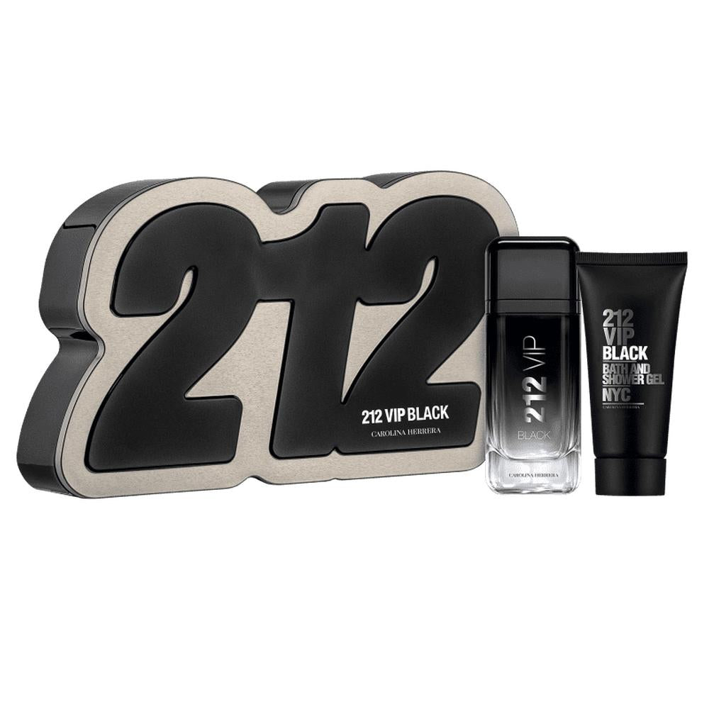 Carolina Herrera 212 VIP Black 2pc Gift Set 3.4 oz 100 ml Men