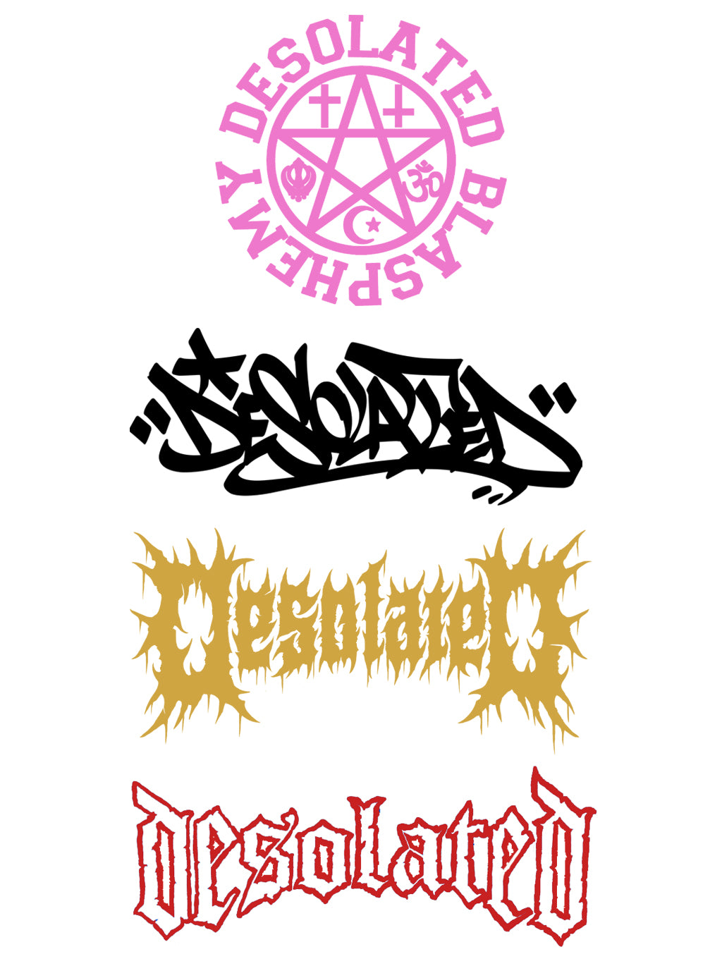 Desolated Weather-proof Stickers