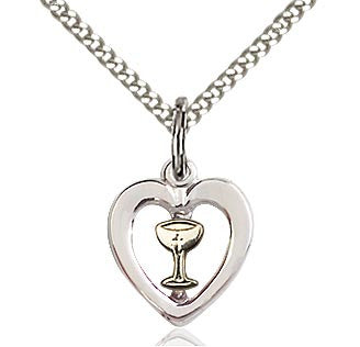Jewelry for First Communion Heart Pendant 3148