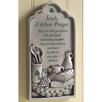 """Irish Kitchen Prayer"" Plaque Available in store only.)"