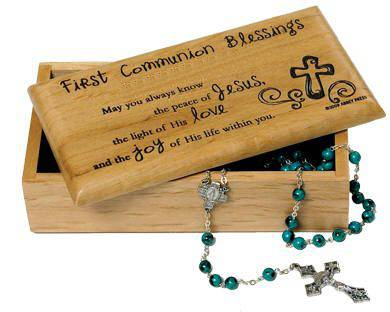 First Communion Blessings Wood Keepsake Box