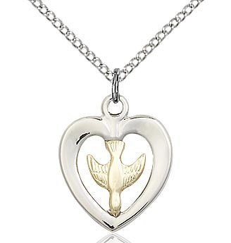 Holy Spirit Heart Pendant 4246