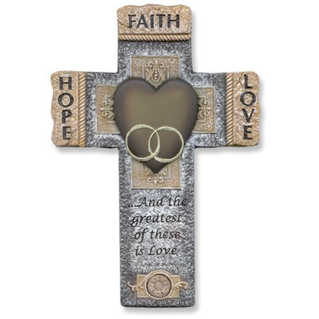 Faith, Hope, & Love Wedding Cross (Available in store only.)