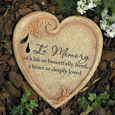 """In Memory"" Garden Stone (Available in store only.)"