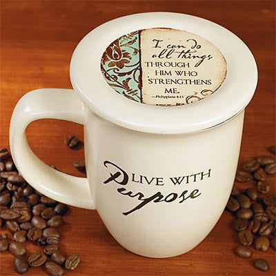 """Live with Purpose"" Mug and Coaster Set"