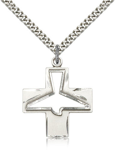 Holy Spirit Pendant Medal on Chain 6080