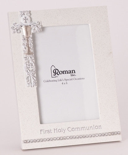 SILVER CHALICE FIRST COMMUNION FRAME