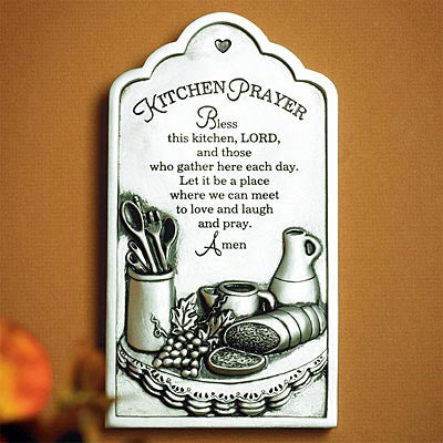 """Kitchen Prayer"" Plaque  (Available in store only.)"