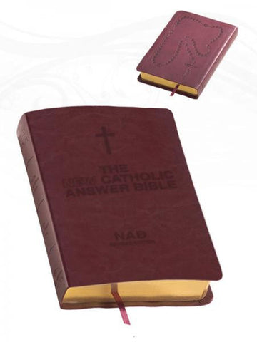 Catholic Answer Bible Librosario NABRE (Burgundy)