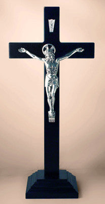 CX 160B Black Wood Standing Crucifix