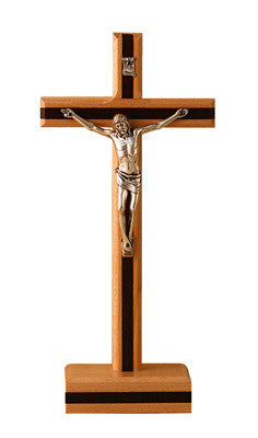 CX257B Wood Standing Crucifix
