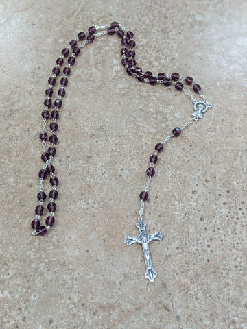 February Birthstone Rosary