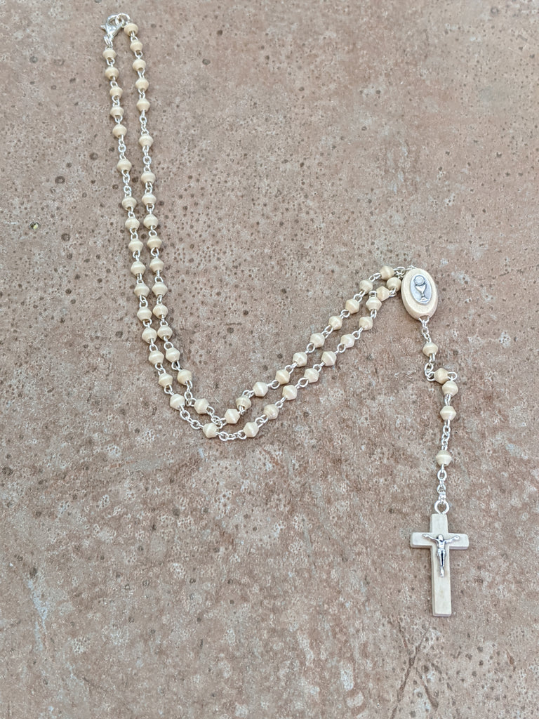 First Communion Rosary Necklace