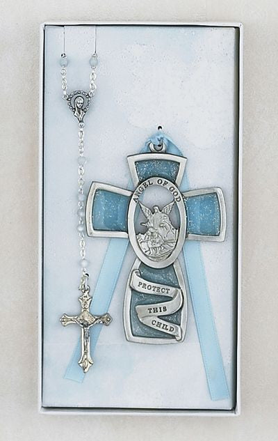 Guardian Angel Rosary and Cross Set