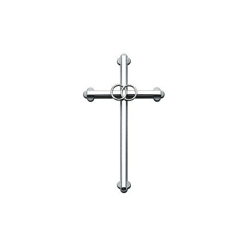 Silver Wedding Cross 8""