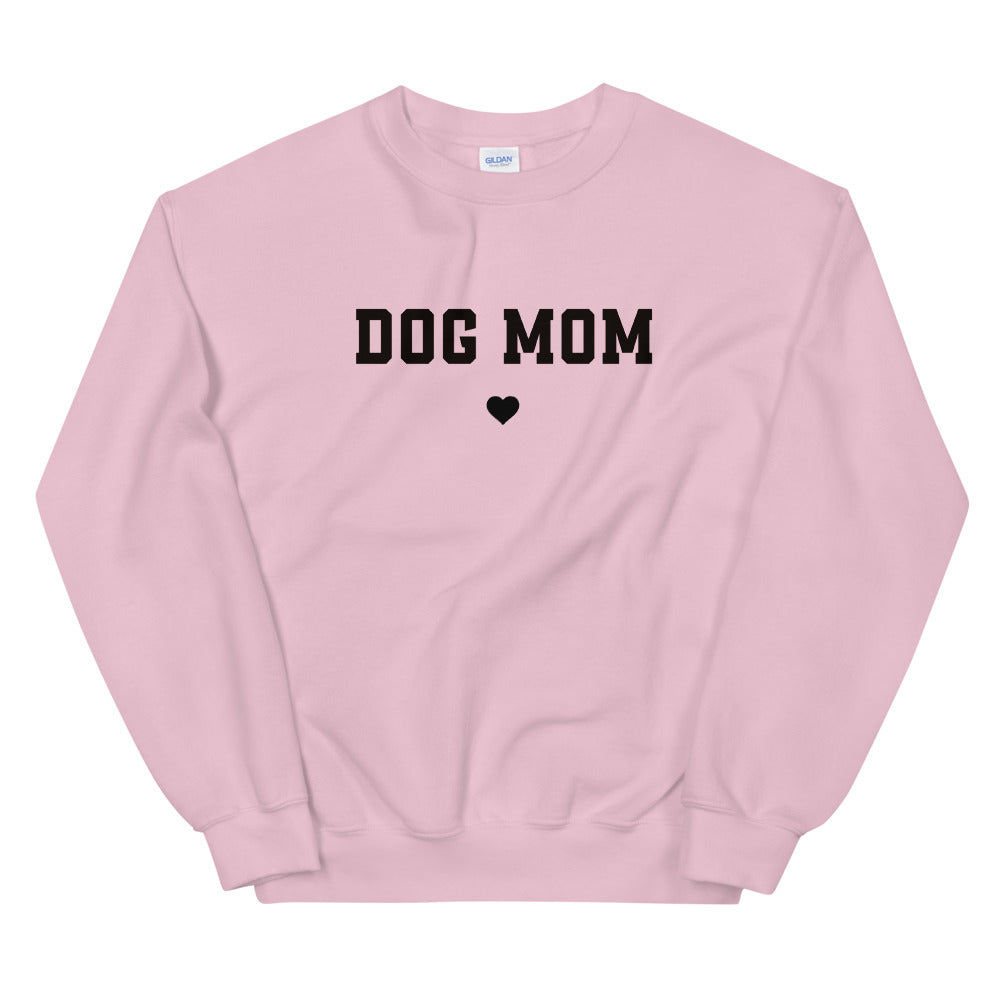 Pink Dog Mom Pullover Crewneck Sweatshirt for Women