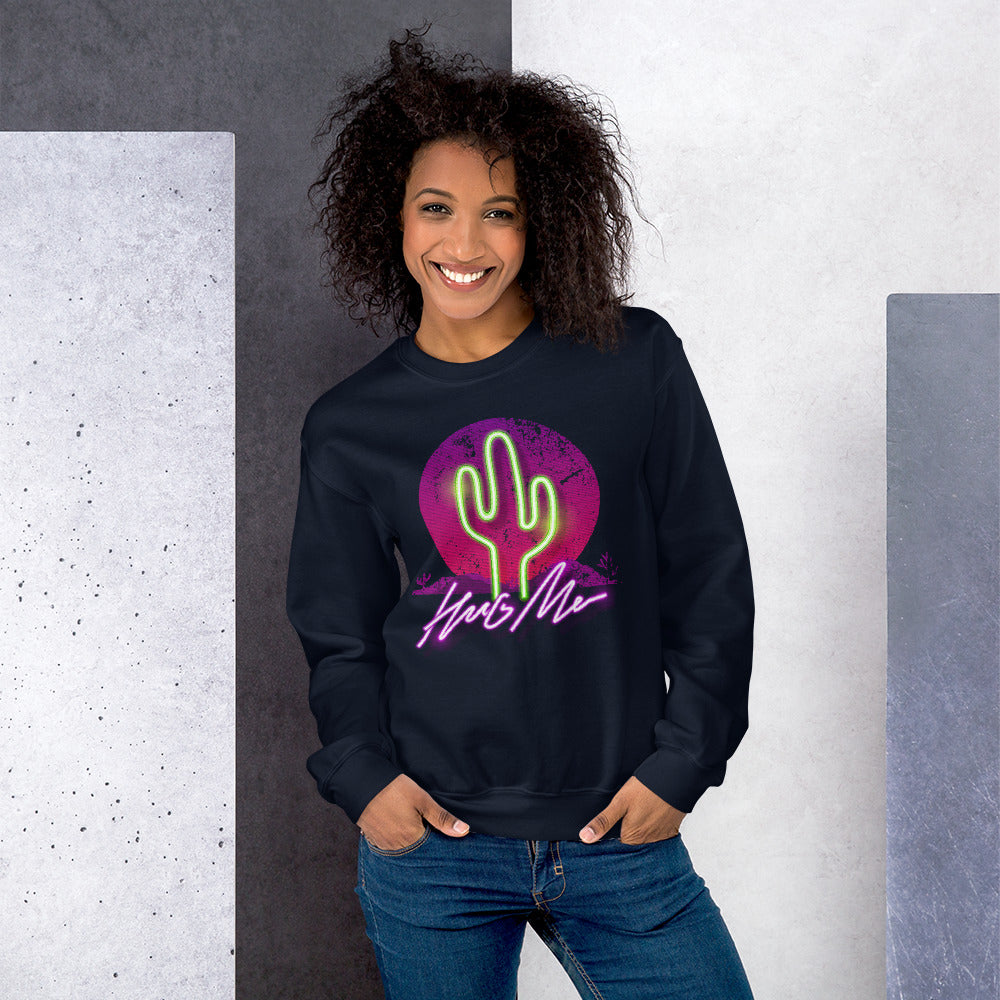 Hug Me Cactus Crewneck Sweatshirt for Women