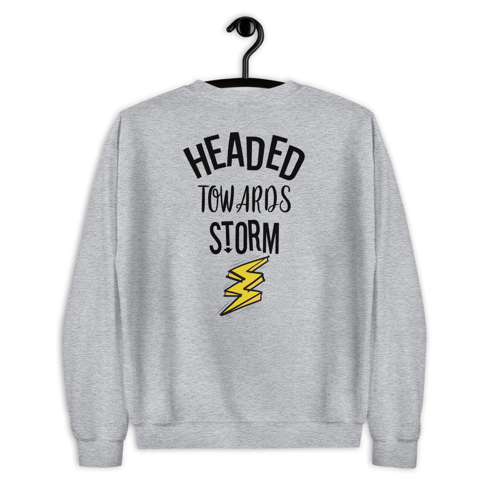 Headed Towards Storm Sweatshirt in Grey for Women