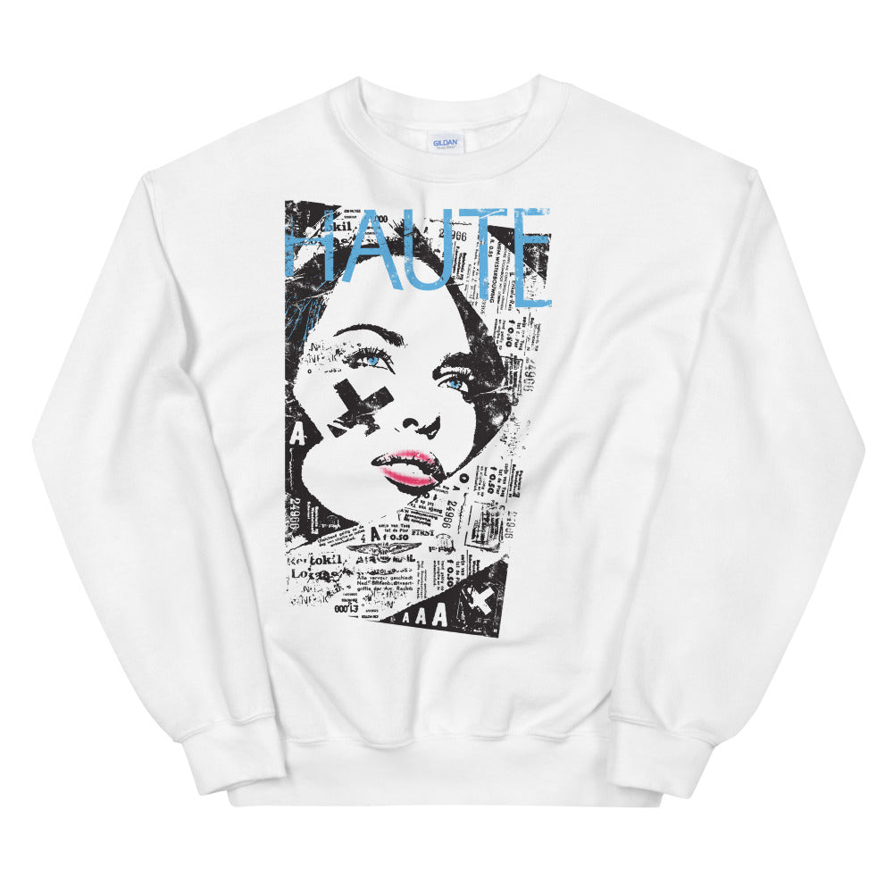 Haute Sweatshirt | Fashion Magazine Cover Haute Crewneck For Ladies