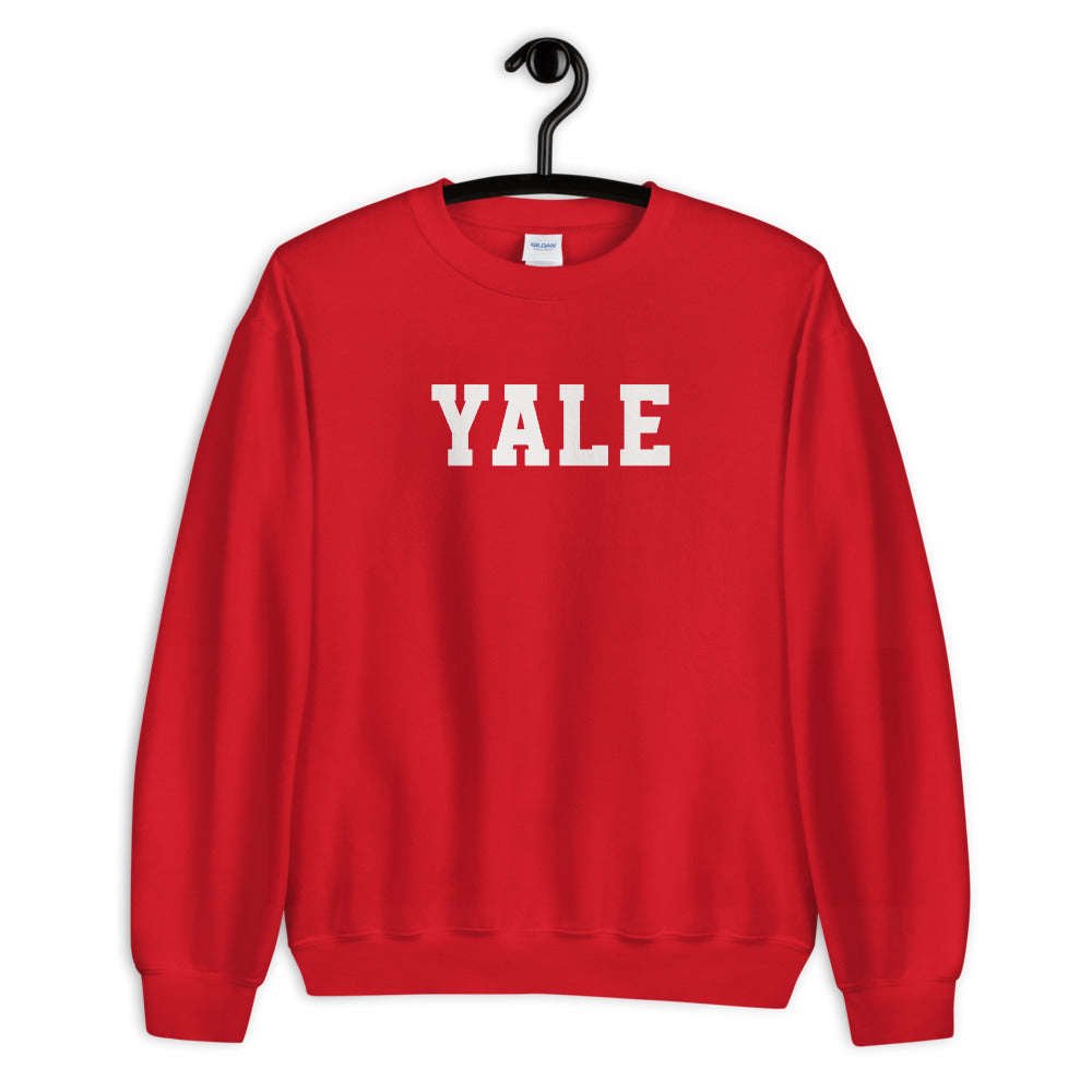 Red Yale Pullover Crewneck Sweatshirt for Women