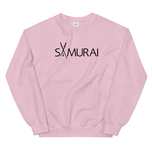 Samurai Sweatshirt | Pink Crewneck Samurai Sweatshirt for Women